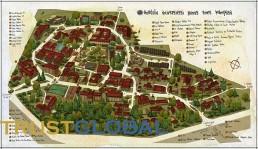 نقشه دانشکده های دانشگاه آناتولی